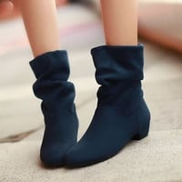 Low Heels Ankle Boots Spring Shoes = 1945686276