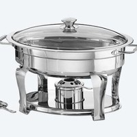 Tramontina 4.2 Quart / 3.9 L Oval Chafing Dish Premium 18/10 Stainless