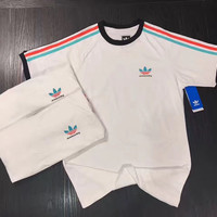 shosouvenir : Adidas: lovers short sleeve stripe sports casual fashion T-shirt