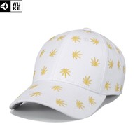 Trendy Winter Jacket WUKE Leaf Embroidered Casquette Homme Men's Snapback Cap Spring Outdoor Hats For Adults Adjustable Women's Baseball Cap Snapback AT_92_12