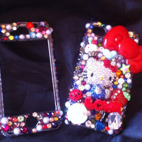 Classic Hello Kitty Decoden phone case by AprilsKawaiiShop on Etsy