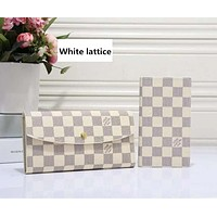 LV Louis Vuitton Classic Women's High Quality Wallet F-LLBPFSH White lattice  Coffee LV Print,Coffee lattice,White lattice,Black lattice,