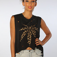 The Weed Leopard Top