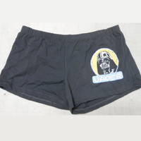 Lucasfilm Women's Darth Vader Sleep Shorts, Large, Charcoal Grey