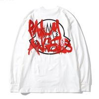 Moncler Genius x Palm Angels hot casual couple graffiti printed thin long sleeve White