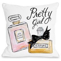 """""""Pretty Girl Perfume"""" Indoor Throw Pillow by Timree Gold, 16""""x16"""""""