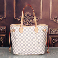 LV Louis Vuitton classic women's exquisite fashion high quality two-piece F White Tartan