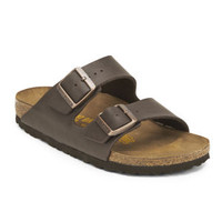 BIRKENSTOCK WOMEN'S ARIZONA SLIM FIT DOUBLE STRAP LEATHER SANDALS - BROWN