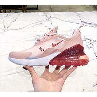 NIKE AIR MAX 270 2019 new cushioning mesh breathable sneakers Pink