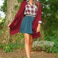 Love You Madly Cardigan-Merlot
