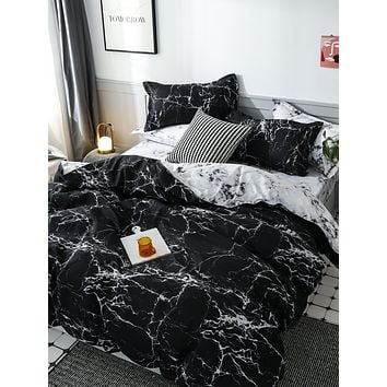 Marble Pattern Bedding Set Without Filler