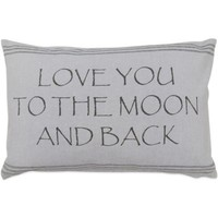 """The Vintage House by Park B. Smith® """"Moon"""" Oblong Throw Pillow"""