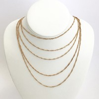 Chains That Bind Us Gold Layered Necklace
