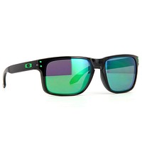 Oakley Holbrook Sunglasses Black Ink Frame Jade Iridium Polarized Lens OO9102-69