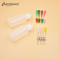 1 Set Henna Paste Tool Kit Nozzle Applicator Drawing for Tattoo Stencil Body Art Makeup Paint Plastic Bottle and Nozzle Tips DIY