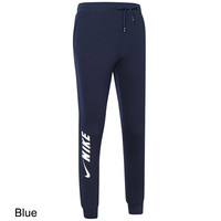 NIKE 2018 autumn and winter new loose breathable knit pants pants sweatpants Blue
