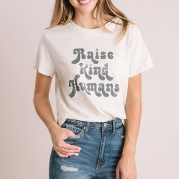 Rachel Raise Kind Humans Cotton T-Shirt