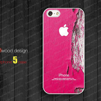 NEW iphone 5 cases case for iphone 5  iphone 5 cover pink wood texture image unique design printing