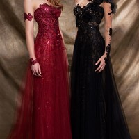 MNM Couture 2123 Fouad Sarkis Gown | Prom Dresses | Pageant Dresses | Military Ball Gowns | GownGarden.com
