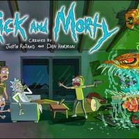 """Rick And Morty TV Animation Fabric poster 40 x 24"""" 21 x 13""""Decor -07"""