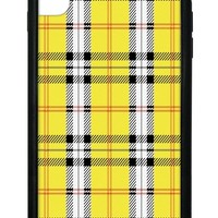 Plaid iPhone Xs Max Case | Yellow