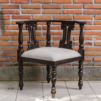 Uttermost Tacey Black Corner Chair