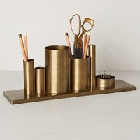 Codify Pencil Holder by Anthropologie Bronze One Size Office