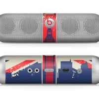 The Vintage London England Flag Skin for the Beats by Dre Pill Bluetooth Speaker