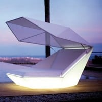 Faz Daybed with Parasol LED & Vondom Faz Daybed with Parasol LED | YLiving