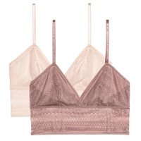 2-pack Soft-cup Lace Bras - from H&M