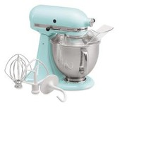 Shop KitchenAid Artisan Series 5-Quart 10-Speed Ice Blue Countertop Stand Mixer at Lowes.com