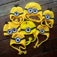 Crochet Minion Hat Perfect for Halloween Choose by mymadymichelle