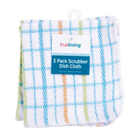 trueliving Scrubber Dish Cloths, 3 pk - assorted - Kitchen Essentials & Tools - Dollar General
