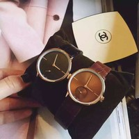 Good Price Gift Awesome Great Deal Designer's Trendy New Arrival Leather Korean Stylish Fashion Vintage Couple Rhinestone Watch [11912230035]