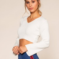 Thea Crop Top - Ivory