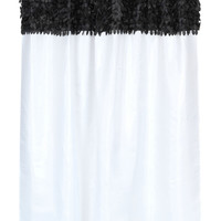"""Latin Fever Dance Party Fabric Shower Curtain  70"""" x 72"""" (Black & White)"""