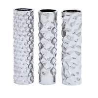 Harvey & Haley Ceramic Vase 3 assorted with Smooth and Slick Texture