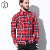Plaid Tops Long Sleeve Shirt [8822210563]