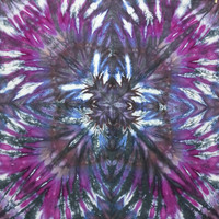 trippy tie dye tapestry or wall hanging in black purple and pinks