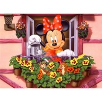 5D Diamond Painting Minnie's Window Box Garden Kit
