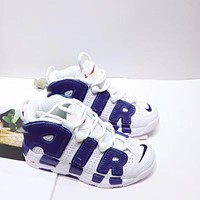 """Nike Air More Uptempo """"White Purple"""" Toddler Kid Shoes Child Sneakers - Best Deal Online"""