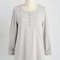 Athletic Long Long Sleeve All in Good Fundamental Top in Stone