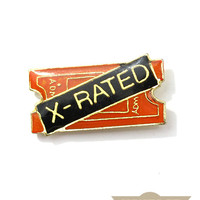 X-Rated Vintage Pin