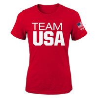 Women's Red Team USA Coast to Coast T-Shirt