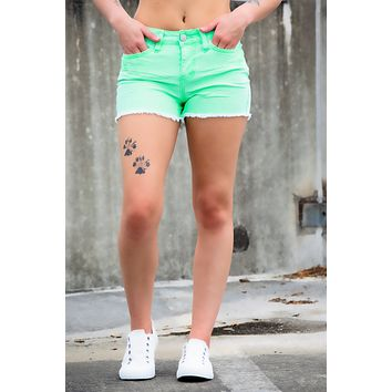 YMI Highlighter Shorts- Lime