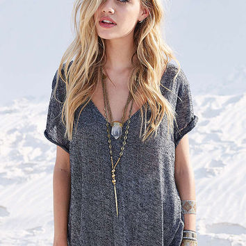 Project Social T Textured-Knit V-Neck Tee | Urban Outfitters