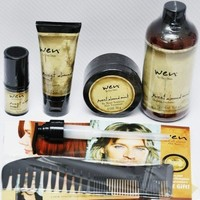 WEN BY CHAZ DEAN SWEET ALMOND CONDITONER, STYLING CREME, RE MOIST MASK INTENSIVE HAIR TREATMENT, TEXTURE BALM, WIDE TOOTH SHOWER COMB, 5 PIECE SET, 1 TIME SHIPMENT | AihaZone Store