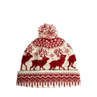 ASOS Bobble Beanie Hat with Stag Design