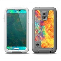 The Vibrant Colored Messy Painted Canvas Samsung Galaxy S5 LifeProof Fre Case Skin Set