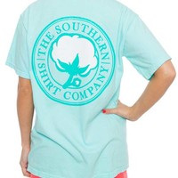 Southern Shirt Company Signature Logo T-Shirt in in Ocean Blue SIGLOGOTEE-SS-OB